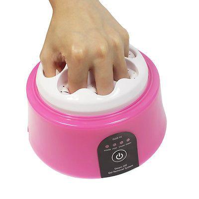 Gel Nail Polish Remover Tool 30W Steam Machine Professional Nail Art Equipment