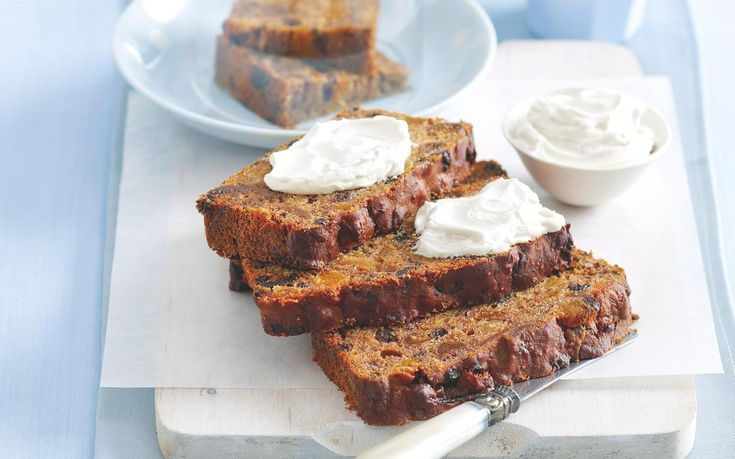 This dense sweet fruit loaf is beautiful served sliced, hot out of the oven, with a spread of cream cheese.