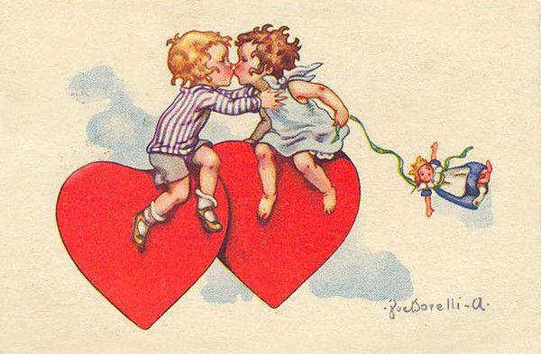 Старые открытки для любимой, картинках нарисованные