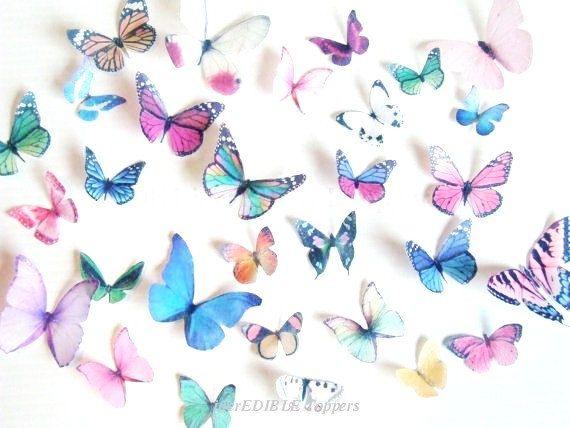Hochzeitstorte Topper und Dekorationen - essbare Schmetterlinge für Kuchen - Assorted essbare Kuchen Dekorationen - Schmetterling Decoartions für Cupcakes