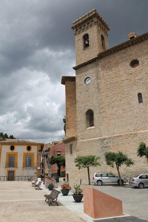 Iglesia de Moratalla, en lo más alto del pueblo ;-)