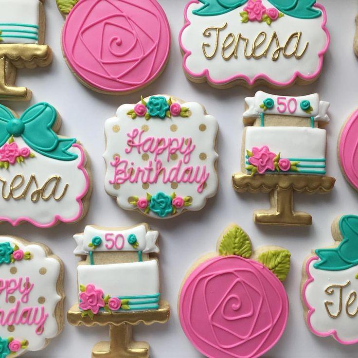 348 Best Birthday Cookies Images On Pinterest