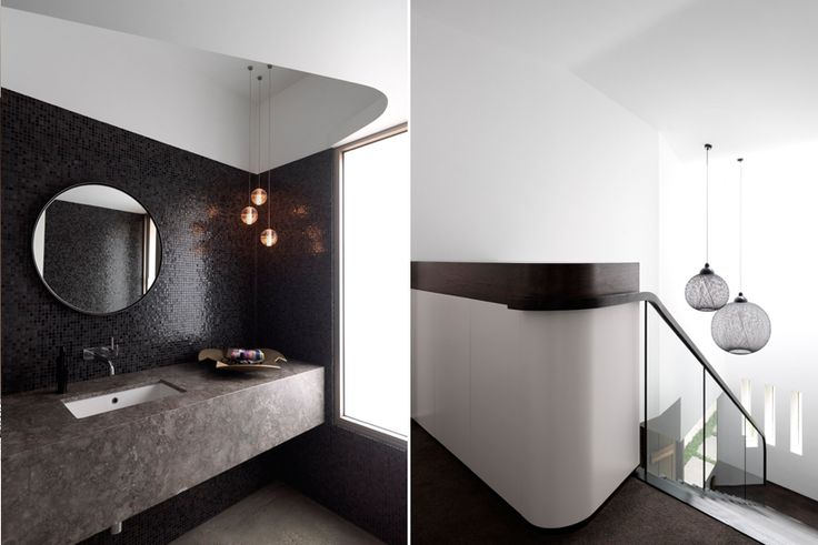 Master Ensuite & Stair Details - Bronte Beach House by Decus Interiors