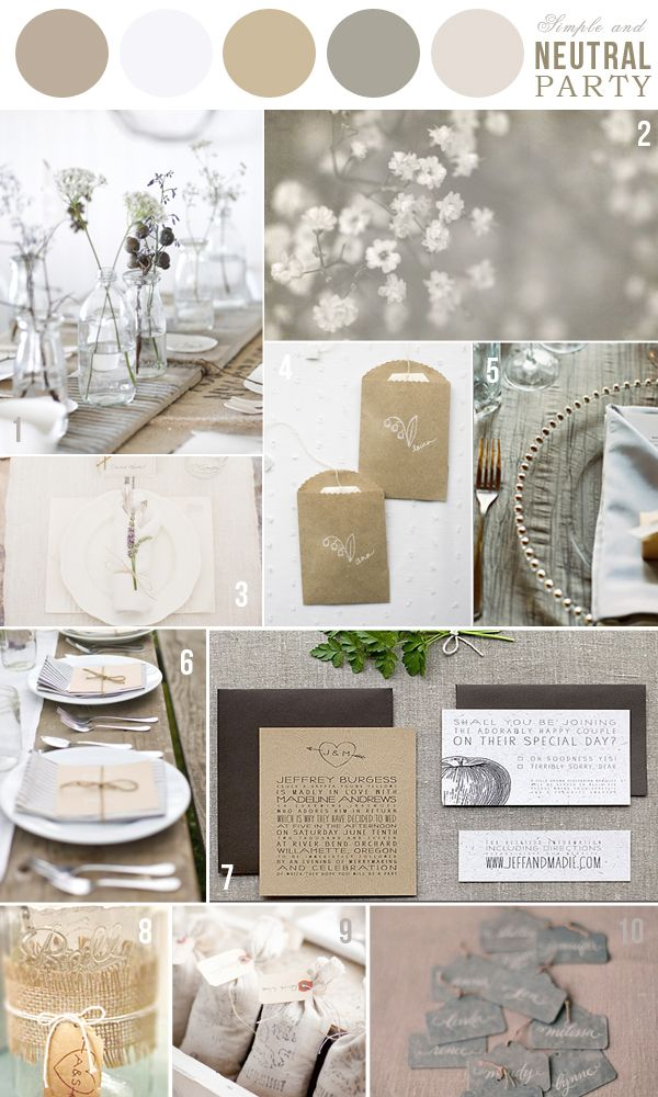 Best 25+ Neutral wedding colors ideas on Pinterest | Bridesmaid dress colors,  Wedding colour schemes and Wedding bridesmaid dresses