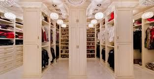 His and hers walk in closet.