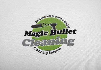 Logo designed for a local cleaning company - Magic Bullet Cleaning