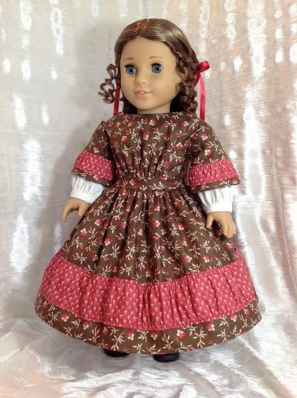1850's gown for your American Girl doll. $69.00, via Etsy.