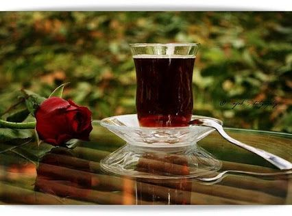 Sen çayı YÜREĞİN ile demlersin de, ben YÜREĞİN ile demlenmez miyim. . .