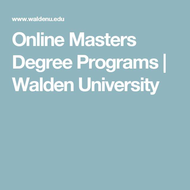 Online Masters Degree Programs | Walden University
