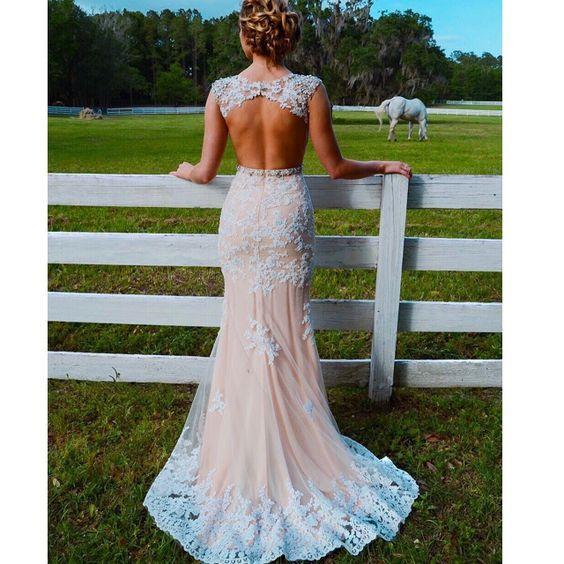 Prom Dresses,Evening Dress,Prom Dresses,Champagne Prom Dresses,Lace Prom Gowns,Lace