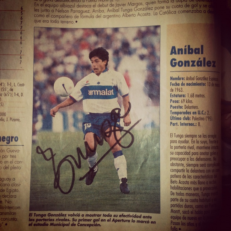 "Autografo Anibal ""Tunga"" Gonzalez #LosCruzados"