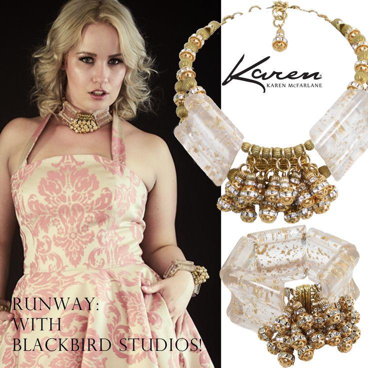 Runway: With Blackbird Studios! Karen McFarlane designs @ Glamour In The Hammer 2017 Cuff (#1041b), Necklace (#1112n)