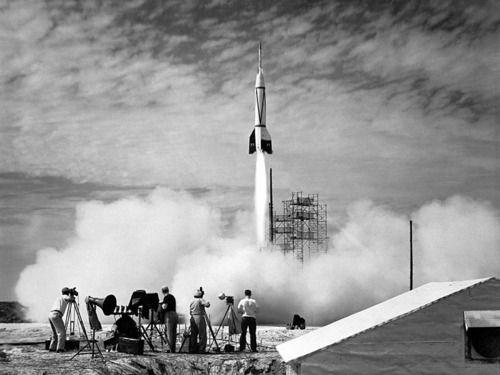 The First Rocket Launch from Cape Canaveral    Credit: GRIN, NASA  Source: apod.nasa.gov