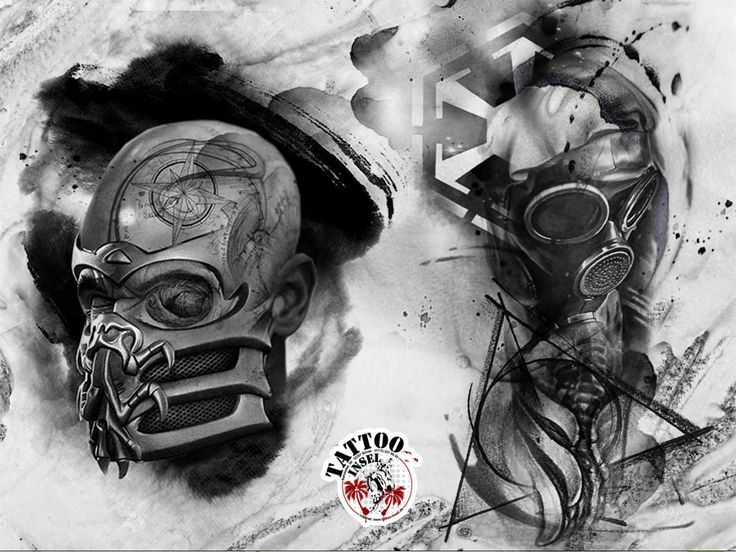 Gasmask Gasmasken Tattoo Polkatrash trashpolka Blackandgrey Tattooideen Tattoomotive Tattooinsel