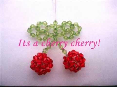 Tutorial: Sparkly Beaded Cherry Phone Charm - YouTube