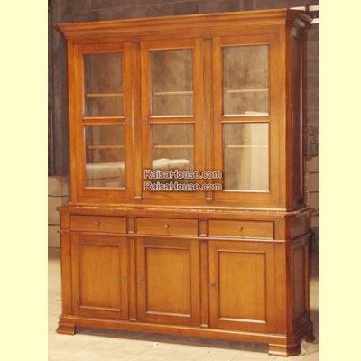 Bookcase 3 Doors Glass Refrence : RBC 016 3D GS Dimension : 181 x 50 x 220 cm Material : #WoodenMahogany Finishing : #Custom Buy this #Bookcase for your #homeluxury, your #hotelproject, your #apartmentproject, your #officeproject or your #cafeproject with #wholesalefurniture price and 100% #exporterfurniture. This #Bookcase3DoorsGlass has a #highquality of #AntiqueFurniture #MahoganyFurniture #ClassicFurniture #NaturalFurniture #ReproductionFurniture #CustomFurniture