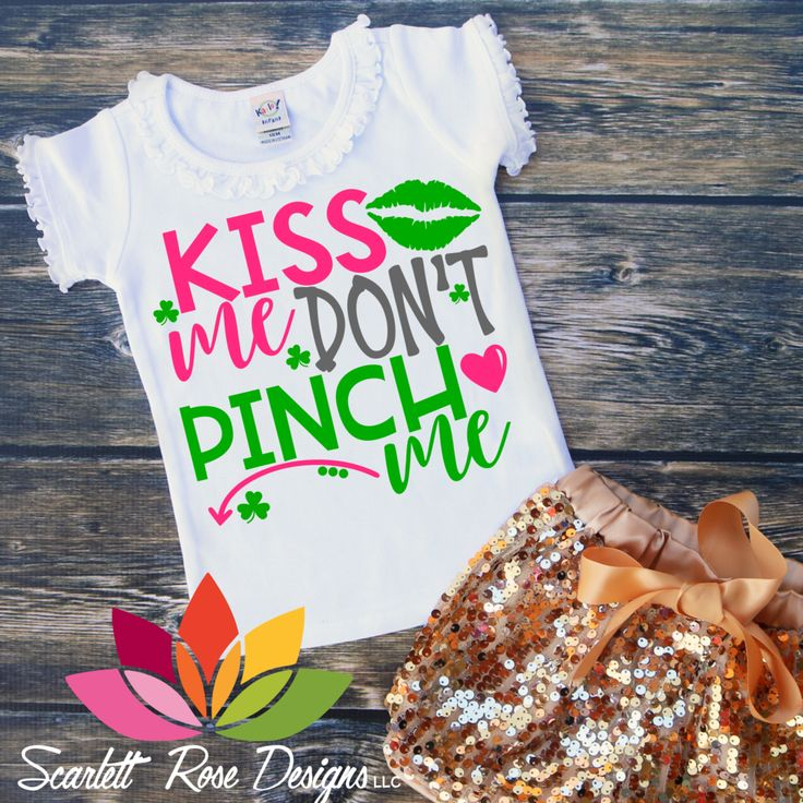 St. Patrick's Day SVG, DXF, Kiss Me Dont Pinch Me cut file #3-leaf-clover #4-leaf-clover #all-trouble