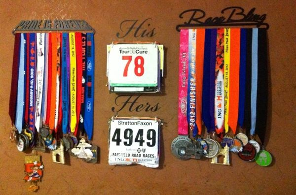 Love this idea for Triathlons. ...23 Cool Race Bib Collections | Runner's World