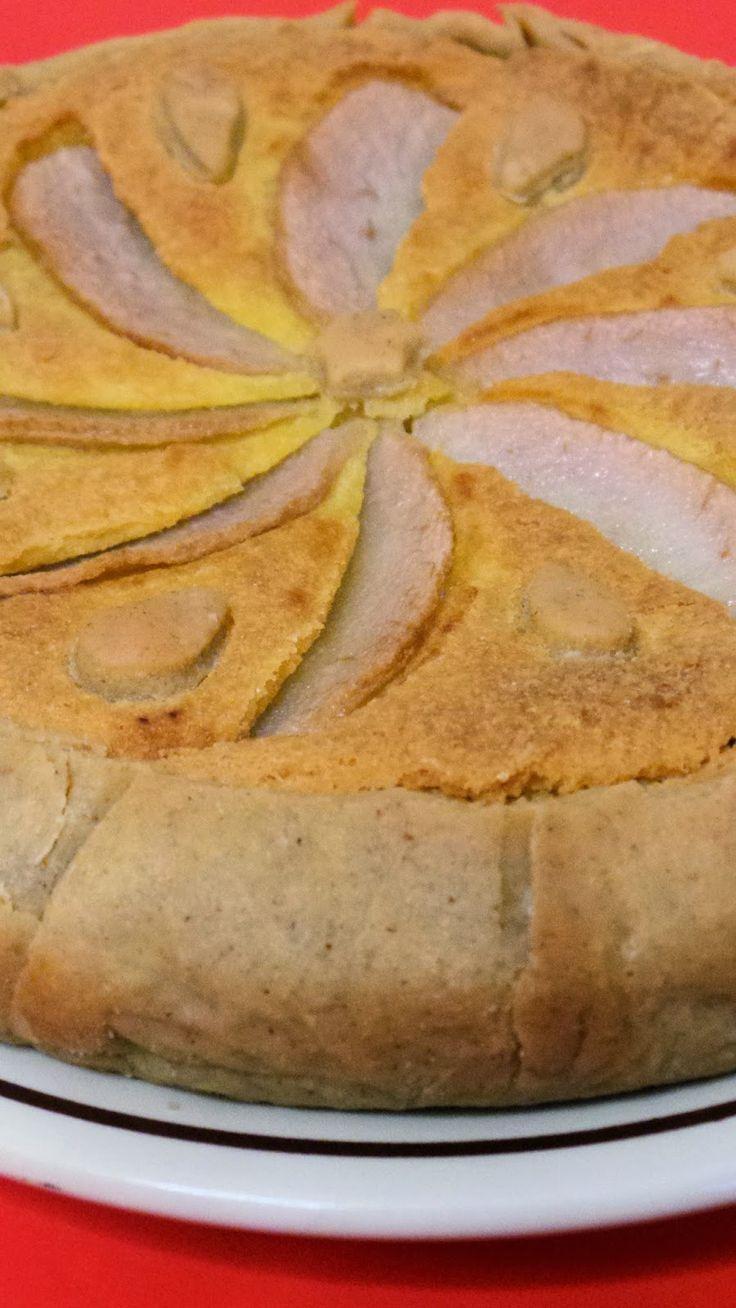 Savory almond frangipane tart with almonds, pears and Gruyère cheese - COOKALASKA Original recipe