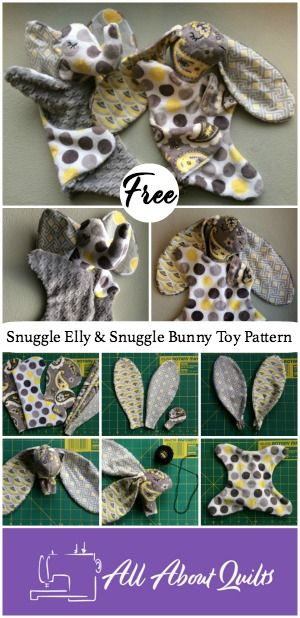 A free pattern to create your own Snuggle Bunny Toy or their best friend Snuggle Elly for someone special. The perfect toy for wee ones to cuddle.