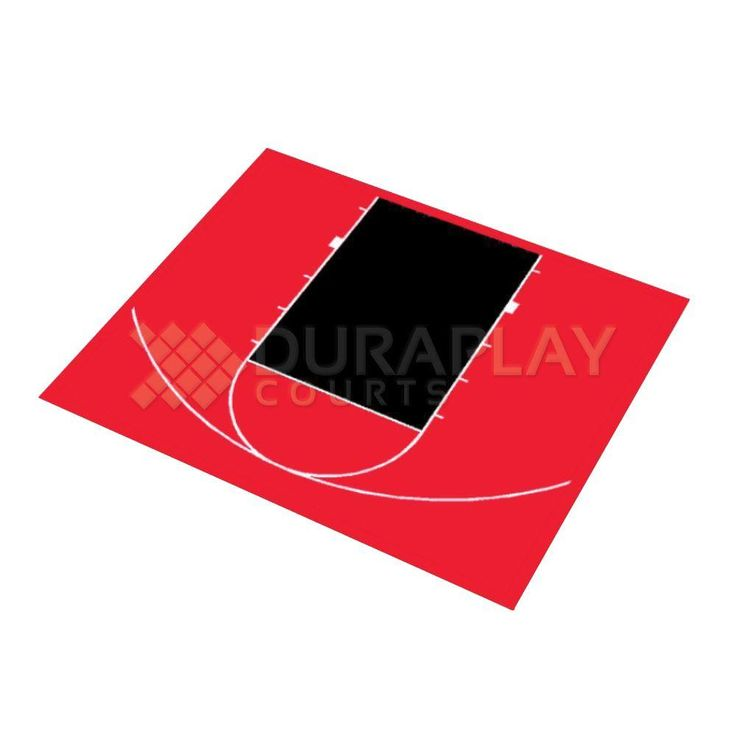 30 ft. 9 in. x 25 ft. 8 in. Half Court Basketball Kit, Uv Protected