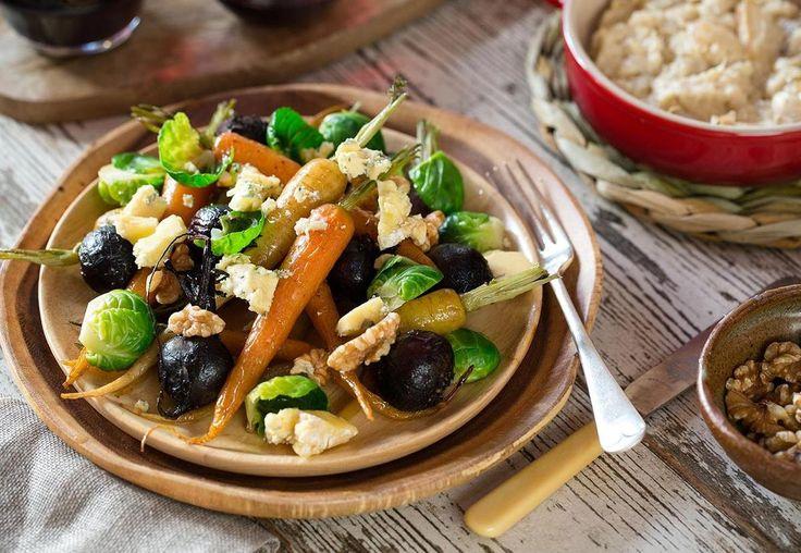 Garlic Puree with Roast Baby Vegetables Recipe - Viva