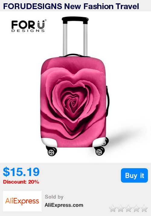 FORUDESIGNS New Fashion Travel Luggage Cover Colorful 3D Rose Flower Women Suitcase Protect Covers Thick Elastic Covers For Case * Pub Date: 21:07 Sep 20 2017