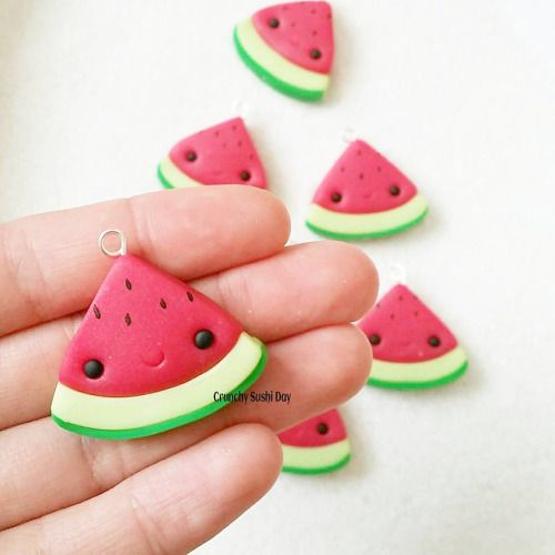 Polymer clay watermelon