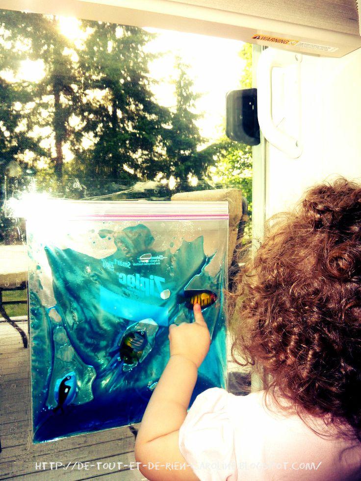 De tout et de rien: Activités pour le Préscolaire: Ah! comme l'eau a coulé, ma vitre est comme un océan!