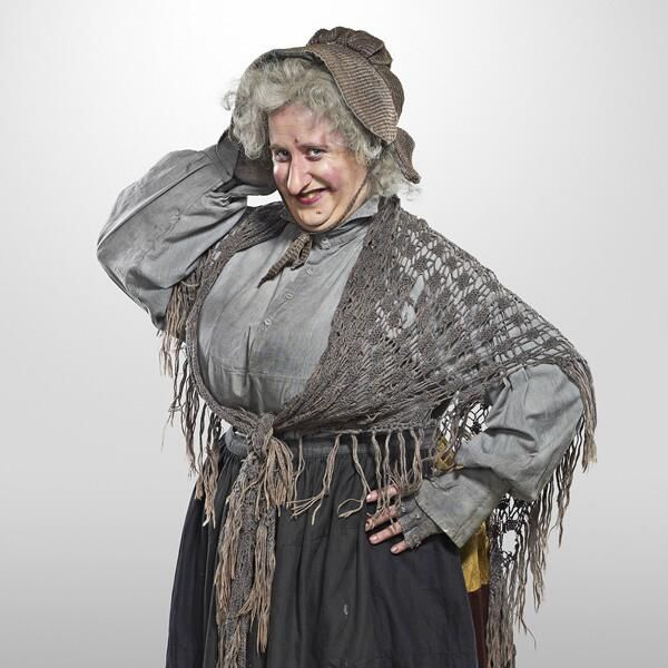 Jim Howick as the old crone in Yonderland. His favourite role, clearly.
