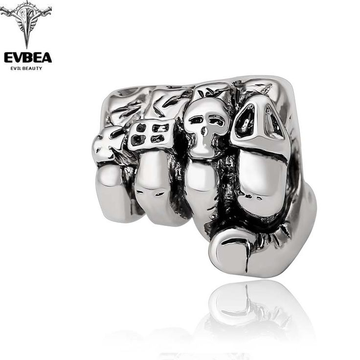 Graduation Fashion Design Gothic Punk Skull Silver Adjustable Rotating Party Bikers Rings Men's Jewelry