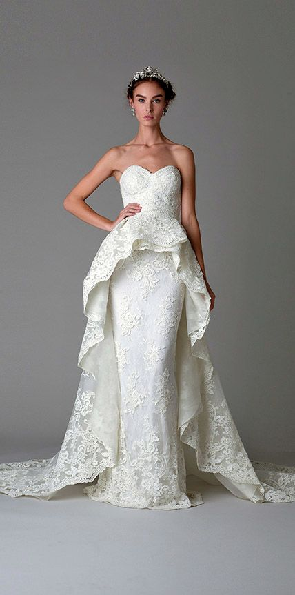 Our Favorite Fall 2016 Wedding Dresses from Bridal Fashion Week | InStyle.com Marchesa