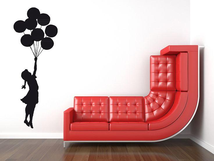Fresh BANKSY Wandtattoo Ballon M dchen Streetart Sticker