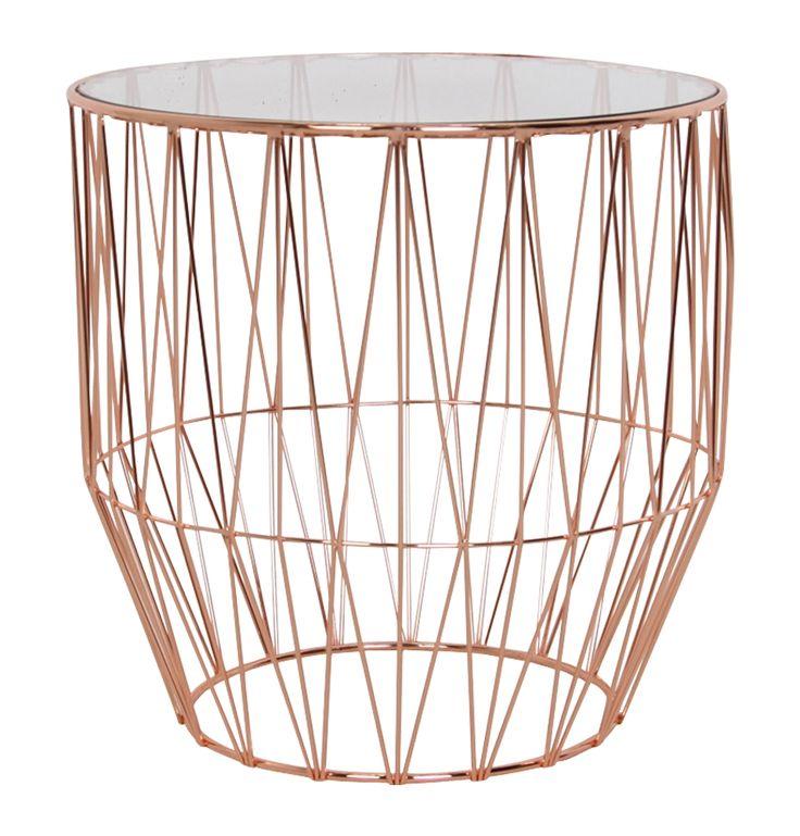 Pascale Copper Side Table - Matt Blatt