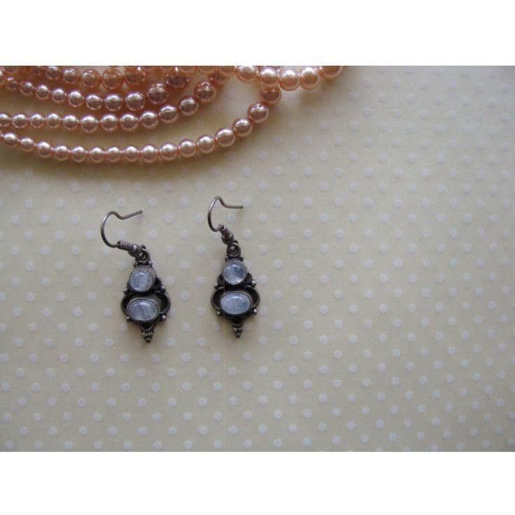 Vintage gemstone teardrop earrings