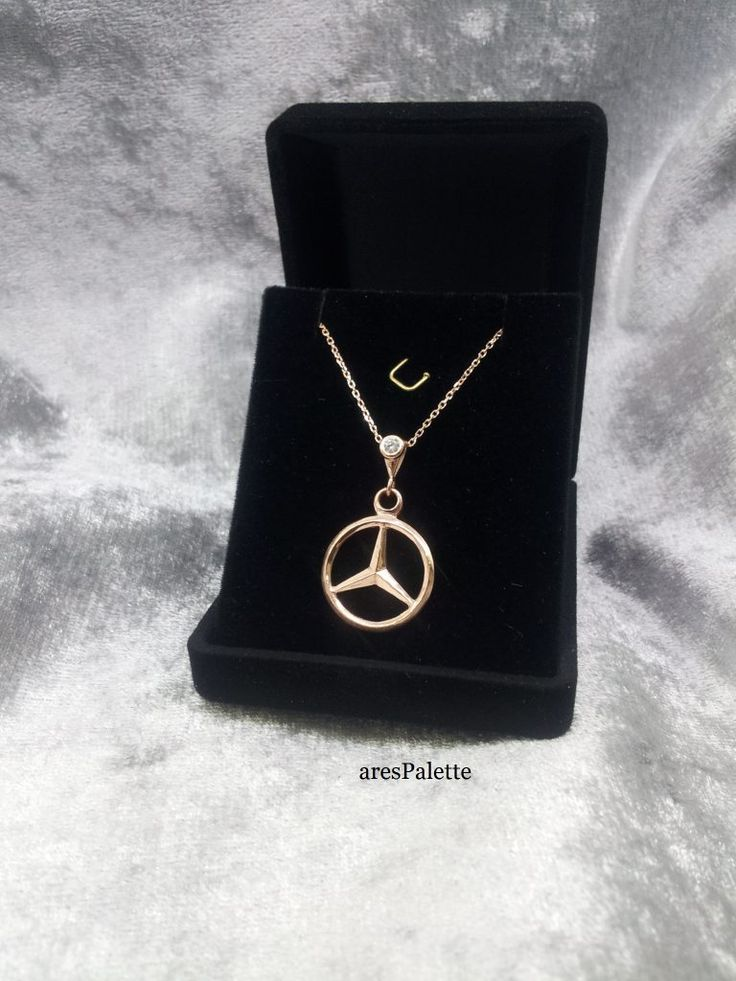 """#mercedes #mercedesbenz #cars #jewelry #necklaces #carjewelry #handmade http://Mercedes Benz """"Rose Edition"""" Necklace-Handmade-925 silver (Free International Standard Shipping)"""
