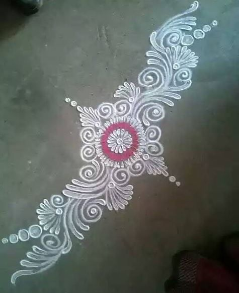 Rangoli designs without dots rangoli kolam pinterest for Floor rangoli design
