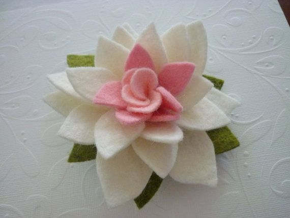 felt lotus blossom by @pennysbykristie on #etsy
