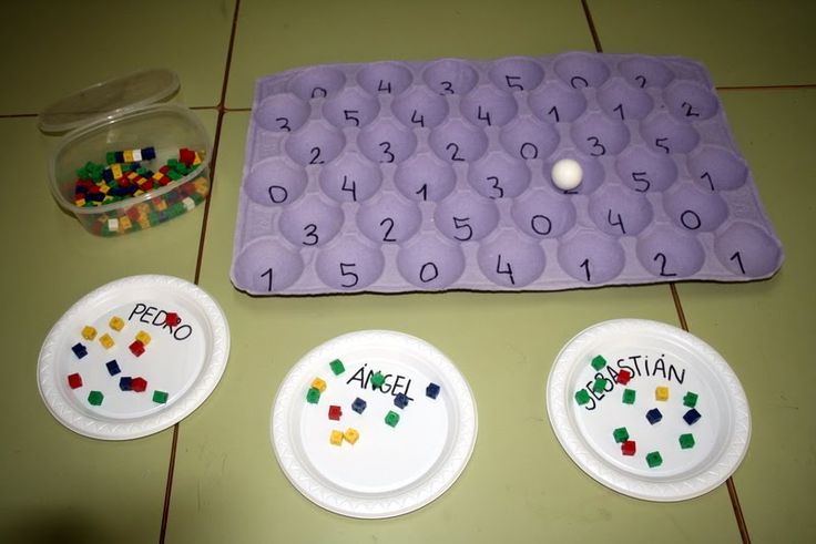 Part 1-each young one sends the ball and according to the number, it takes that amount of cubes  and to its plate