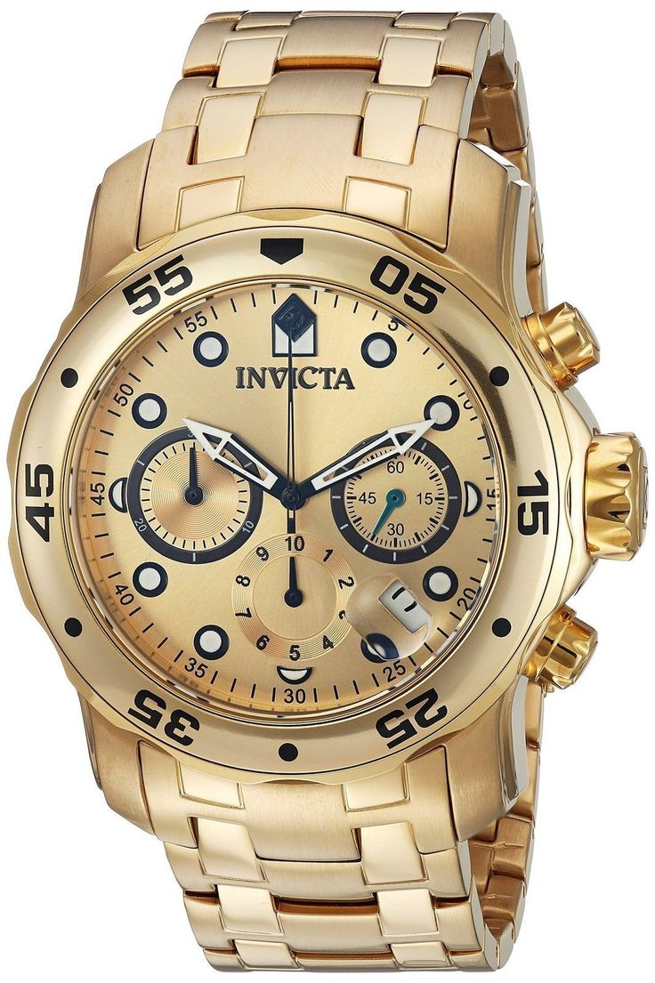Item specifics     Condition:        New with tags: A brand-new, unused, unopened, undamaged item in its original packaging (where packaging is    ... - #Watches https://lastreviews.net/fashion/mens/watches/invicta-mens-0074-pro-diver-gold-gold-dial-watch-authorized-retailer/