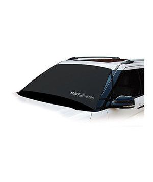 Place this polyester cover over your windshield on a winter night and simply shake snow off in the morning—no scraping. This cover safeguards your wiper blades, too! A security flap (closed in the driver's-side door) prevents theft.