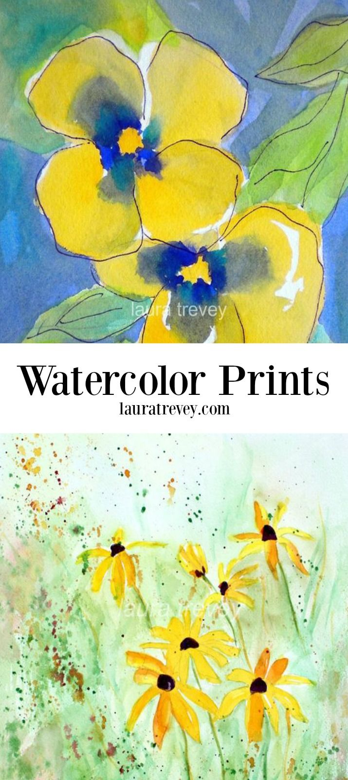 Shopping for art prints made easy  | colorful home decor in watercolor