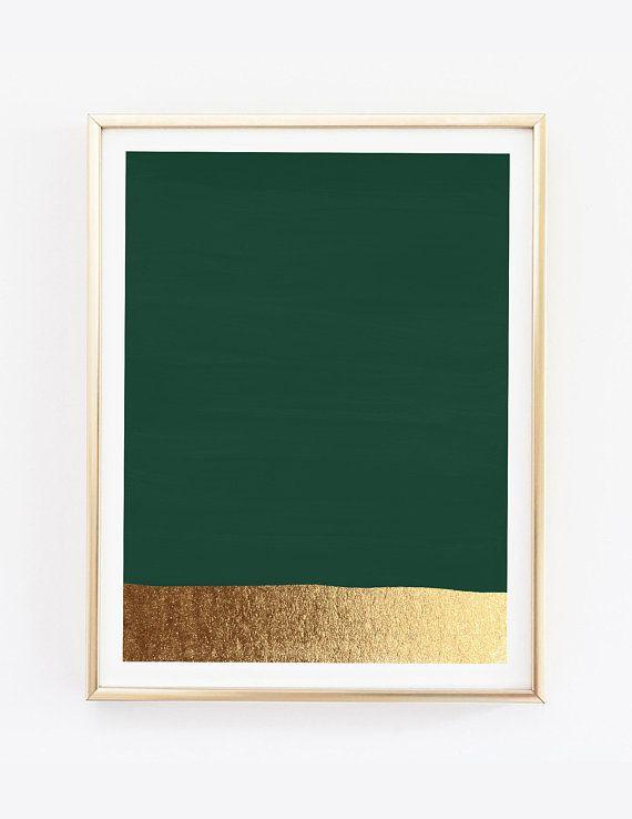 Dark Green Art Print Hunter Green Print Green And Gold Prints Modern Art Print Green Painting Abstract Art Minimal Green Wall Art Dark Green Painting Ab