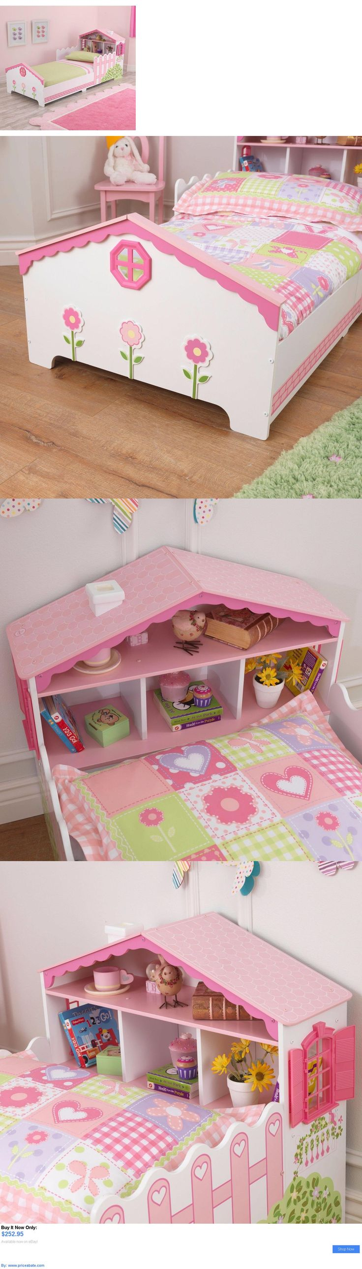 Kids At Home: Toddler Bed With Rails Pink White Dollhouse Girls Bedroom  Furniture Home Kids