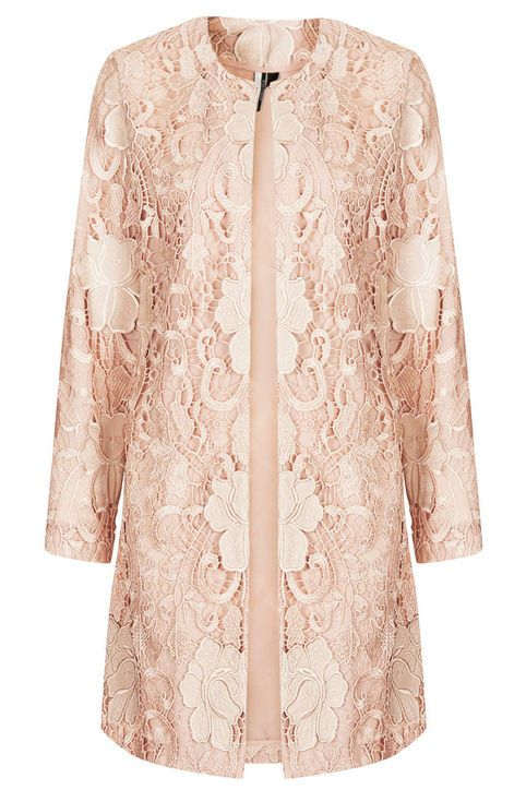 Gorgeous Lace Coat to cover up comfy jeans and t-shirt or something nicer | Best Fall Coats and Jackets: 2014 Fall Coat, Jacket Styles: Glamour.com