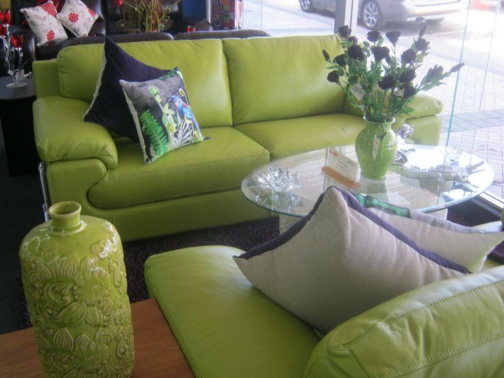 Beautiful Green Lounge Suite from Van Dyks Cambridge Store  http://www.vandyks.co.nz