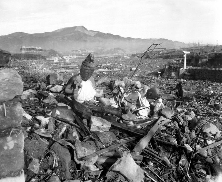 Nagasaki after the atom bomb, August 1945.