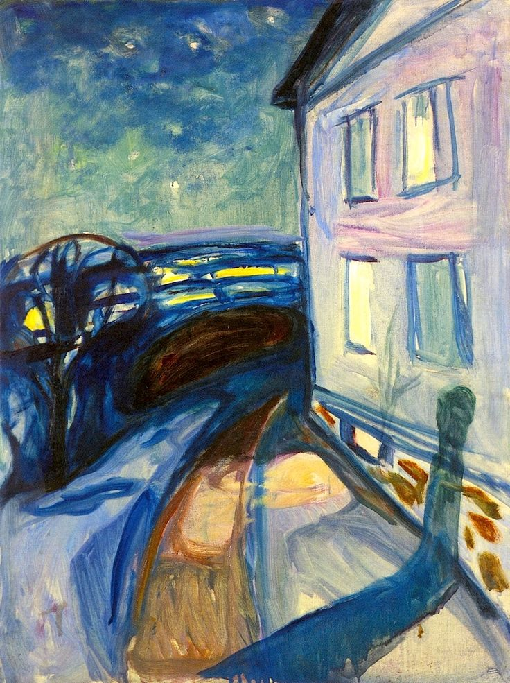 House Wall in Moonlight Edvard Munch - 1922-1924