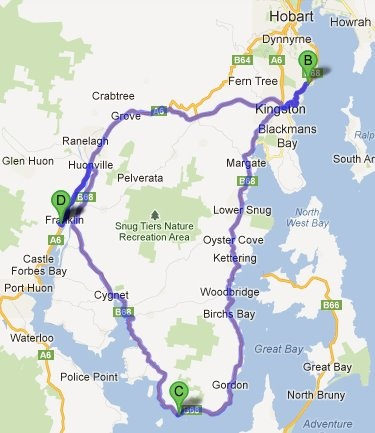 Let's drive along the Huon Trail in Tasmania......