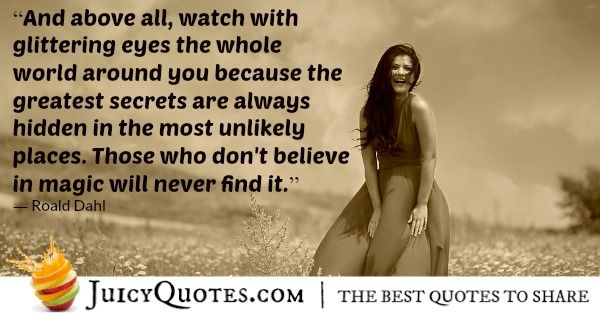 Quote About Believe - Roald Dahl